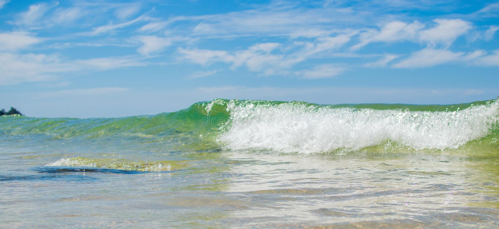 Tropical sea wave close up view stock photo