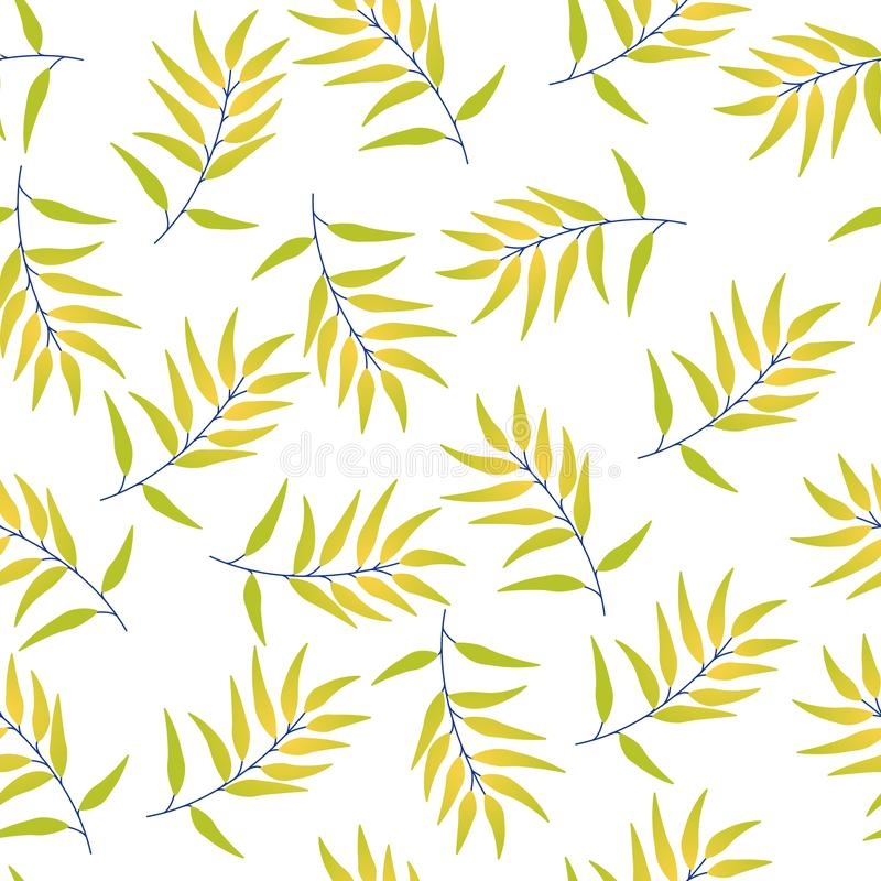 Tropical seamless pattern leaves royalty free illustration