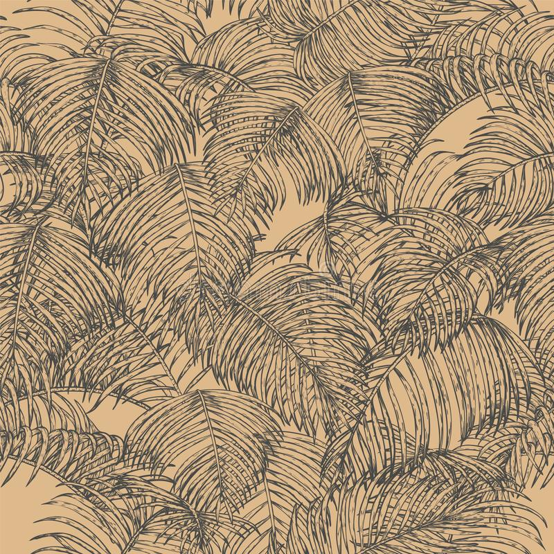 Tropical seamless for wallpaper. stock illustration