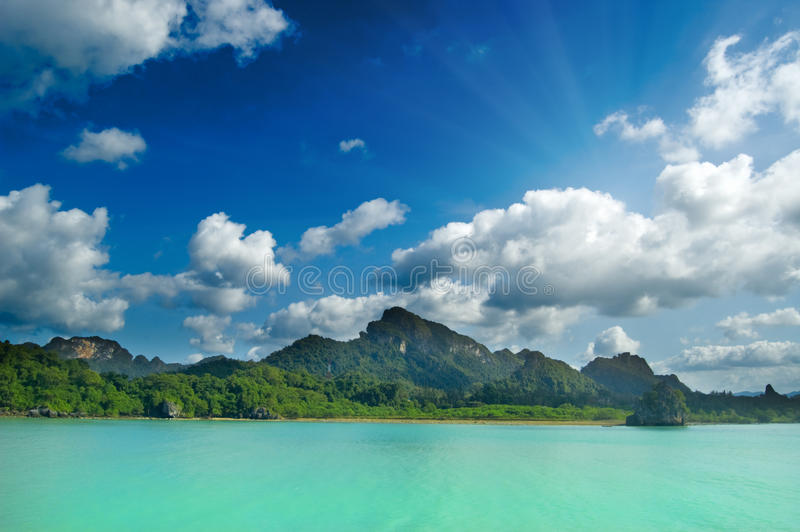 Tropical seascape royalty free stock image