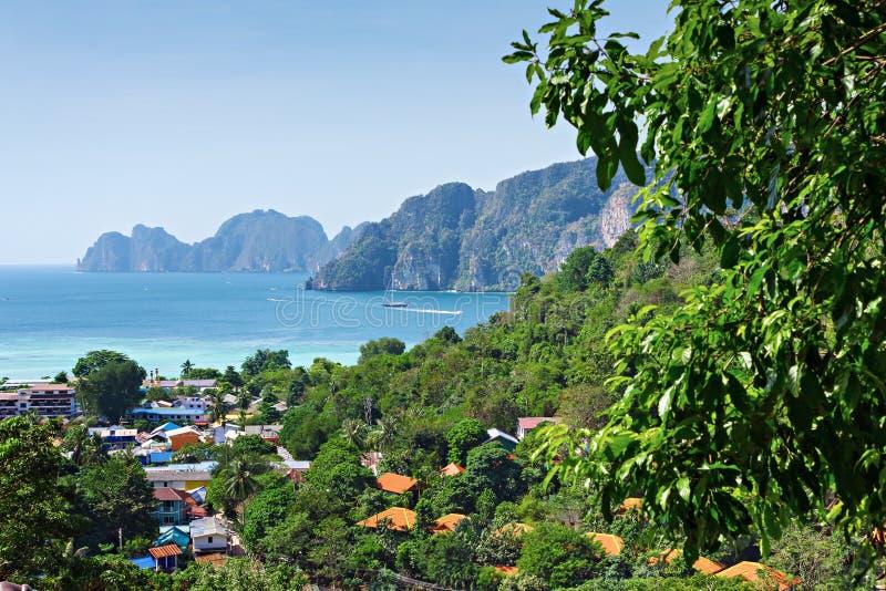 Tropical seascape Phuket royalty free stock photos