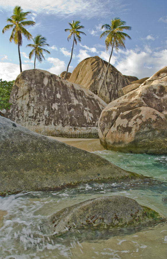 Tropical seaside area stock photography