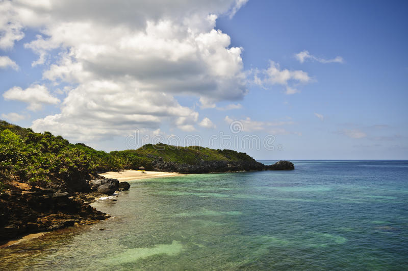 Tropical Secluded Beach, Honduras royalty free stock images