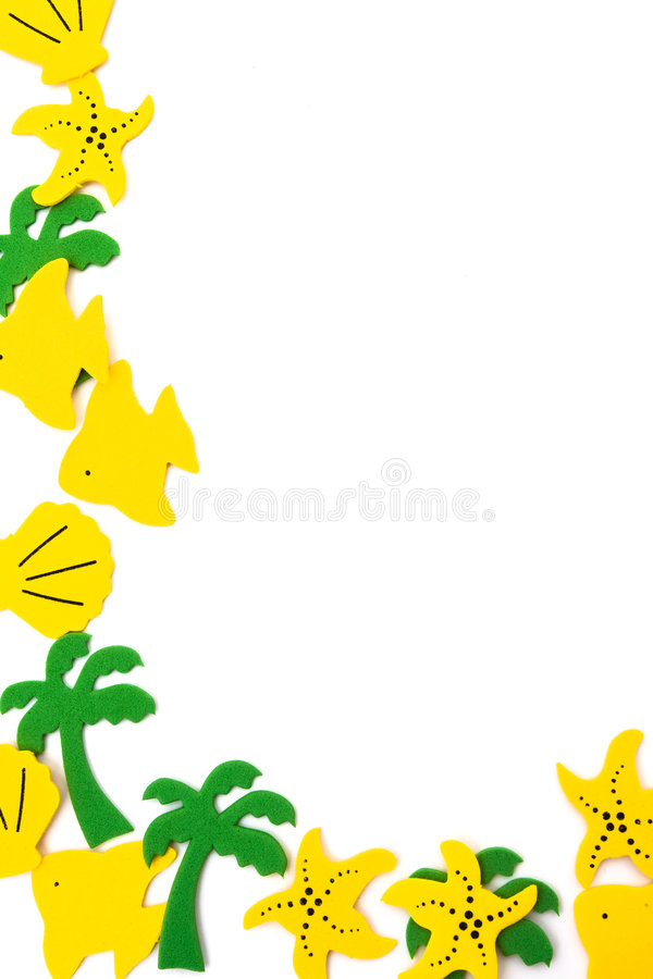 Tropical Shapes Royalty Free Stock Photos