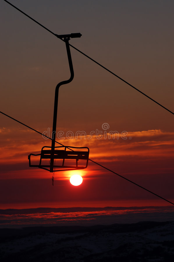 Download Tropical Ski Resort Chair Lift Stock Photo - Image: 1148602