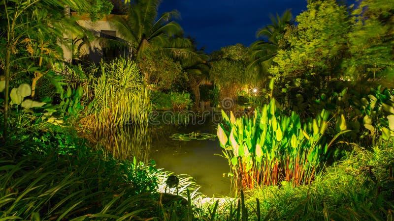 Tropical spa θέρετρο σε Phuket, Ταϊλάνδη - ταξίδι και τουρισμός Όμορφο τοπίο στην περιοχή του ξενοδοχείου στοκ φωτογραφίες
