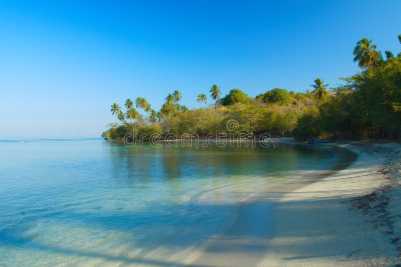 Tropical spot in the caribbean stock photos