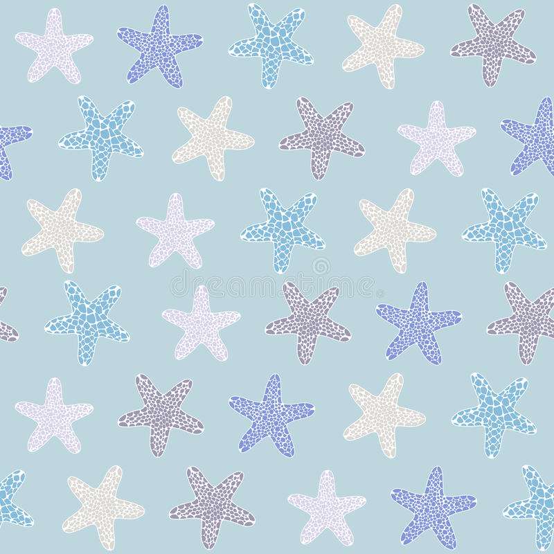 Tropical starfishe texture. Seamless vector pattern. Ocean fauna. Starfish background. Seamless tropical texture. Ocean illustration for wallpaper, webpage vector illustration