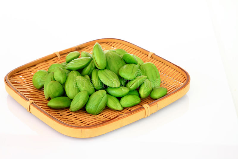 Tropical stinking edible beans(Parkia Speciosa) stock photography