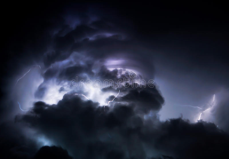 Download Tropical Lightning Storm Clouds Stock Image - Image: 49473599