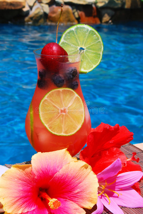 Tropical Summer Drink stock images