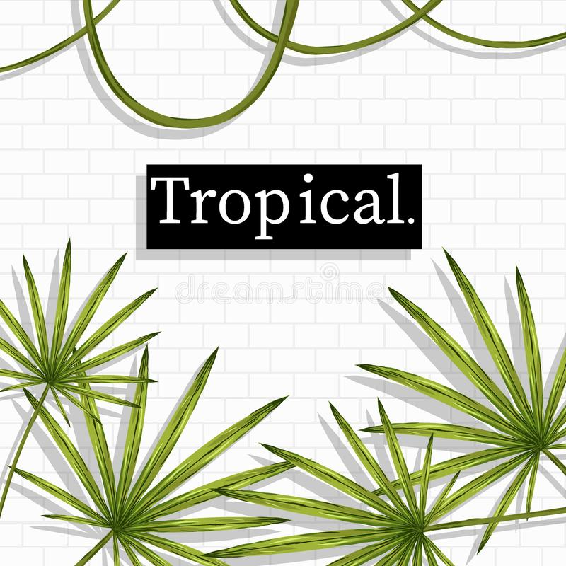 Tropical Summer holiday themed vector background image stock illustration