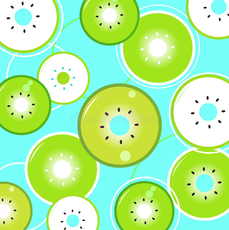 Download Tropical Summer Kiwi Background Or Pattern Stock Vector - Image: 20206637