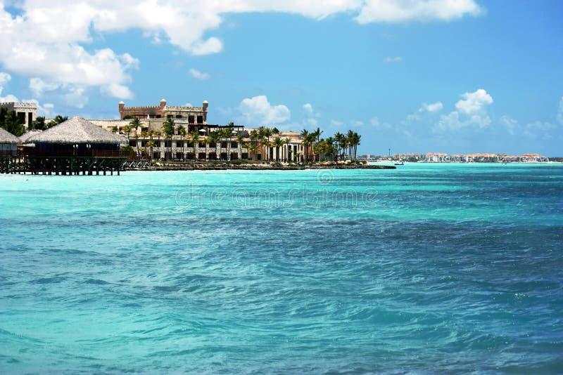 Tropical sunny ocean coastline royalty free stock photos