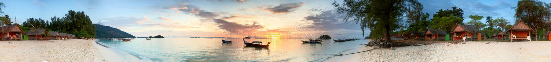 Tropical sunrise royalty free stock photo