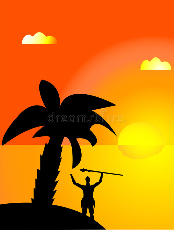 Download Tropical sunrise stock vector. Image of backgrounds, ocean - 2529270