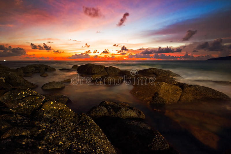 Download Tropical sunset stock image. Image of clear, dream, blue - 10579211