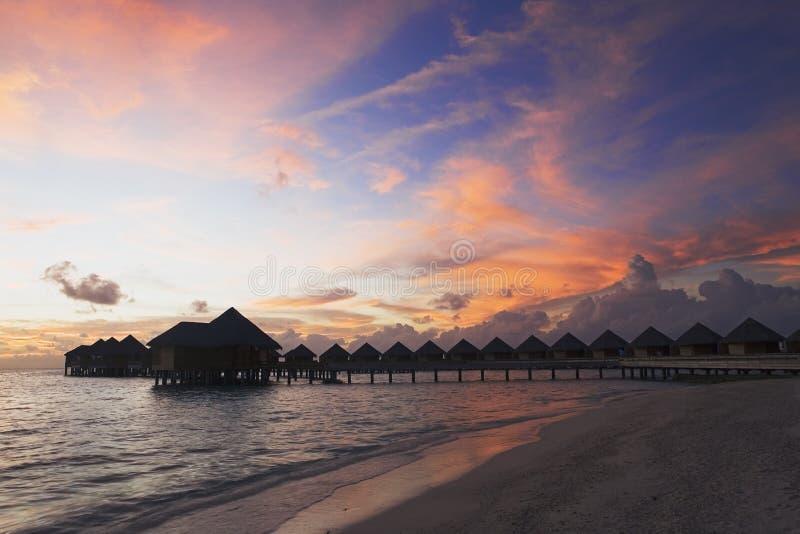 Tropical sunset royalty free stock photos