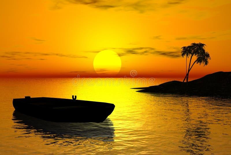 Tropical Sunset royalty free illustration