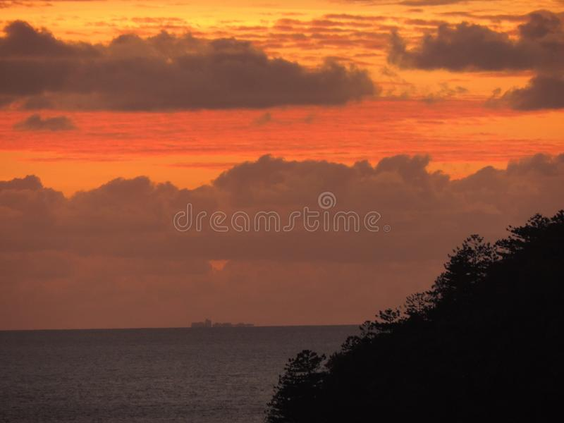 A tropical sunset stock images
