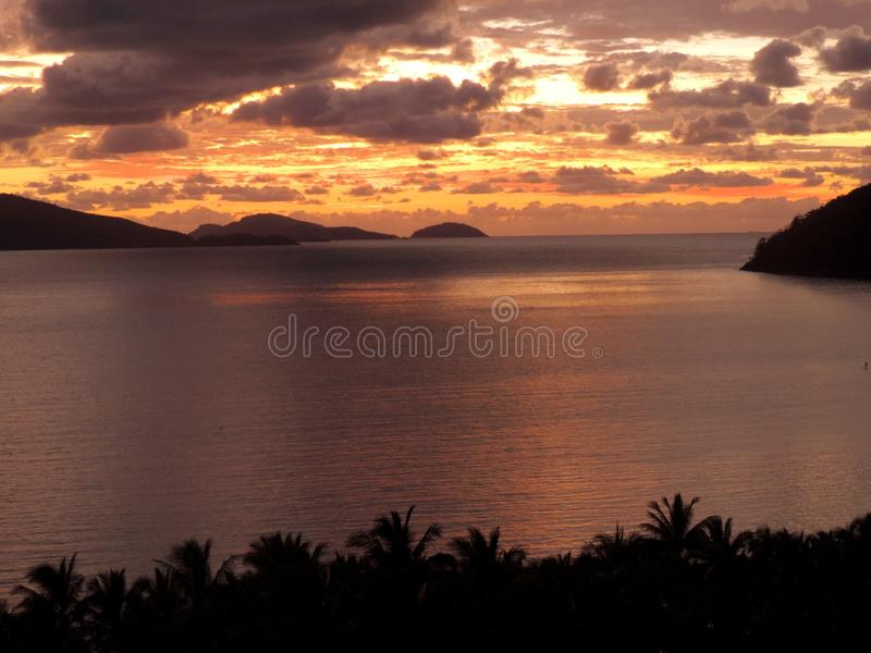 A tropical sunset royalty free stock photography