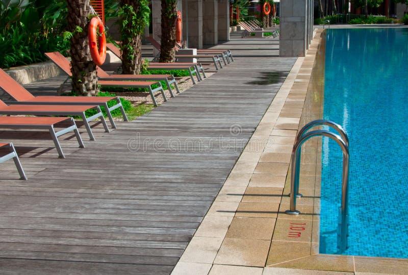 Tropical Swimming Pool stock photo