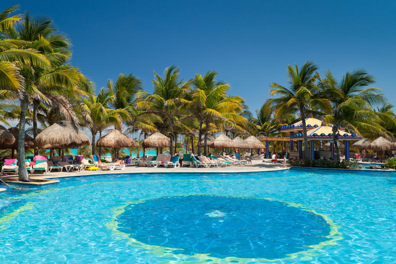 Download Tropical swimming pool stock photo. Image of paradise - 20757932