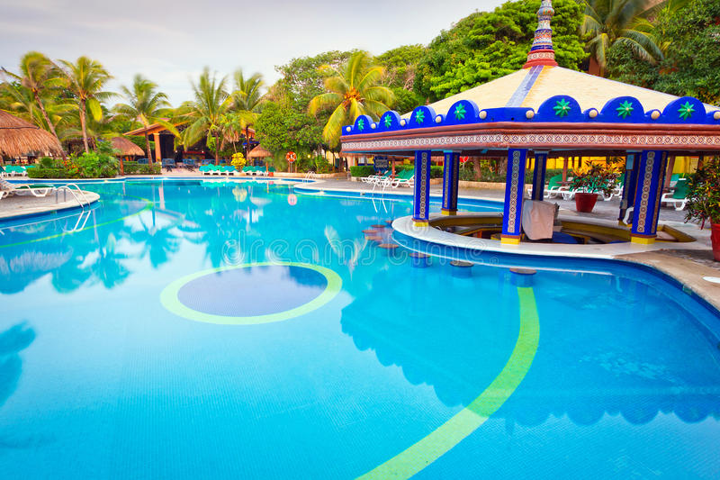 Download Tropical Swimming Pool At The Morning Stock Image - Image: 26990185