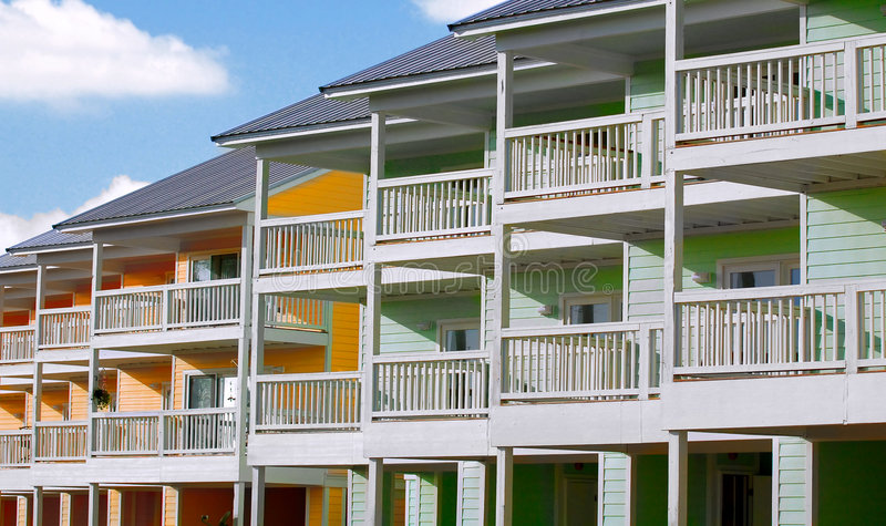 Tropical Townhomes stock photos