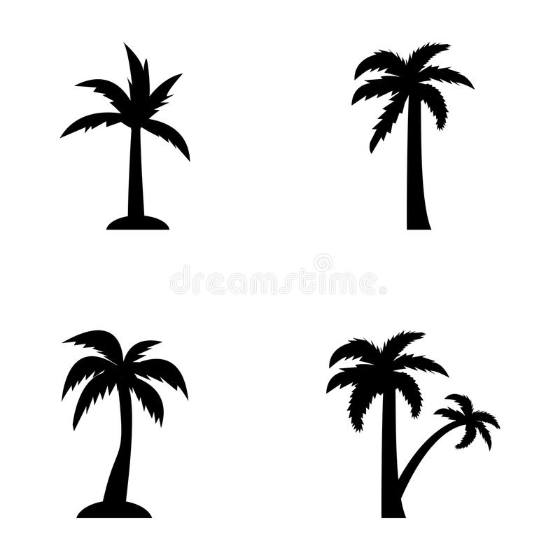 Tropical trees outline. The perennial trees in this pack are from decorative, flowering, fruit bearing and shady palms. The palm icons designs in the set are stock illustration