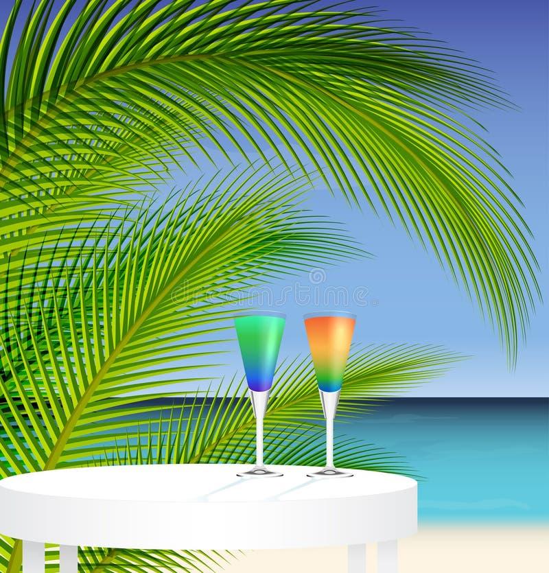 Tropical trip royalty free illustration