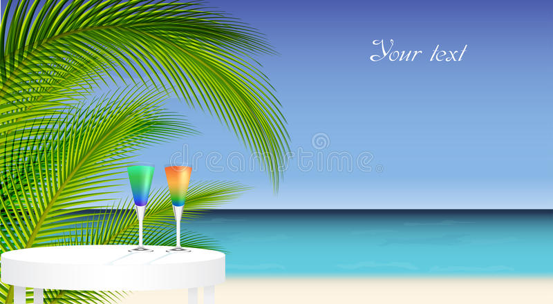 Tropical trip vector illustration