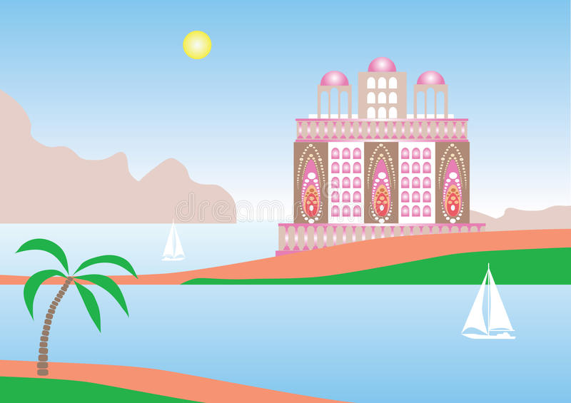 Download Tropical Vacation stock illustration. Illustration of tropics - 12714350