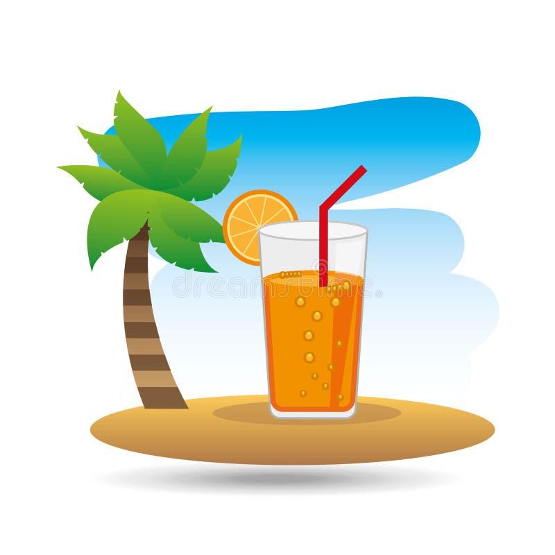 Tropical vacation beach cocktail bar. Vector illustration eps 10 vector illustration