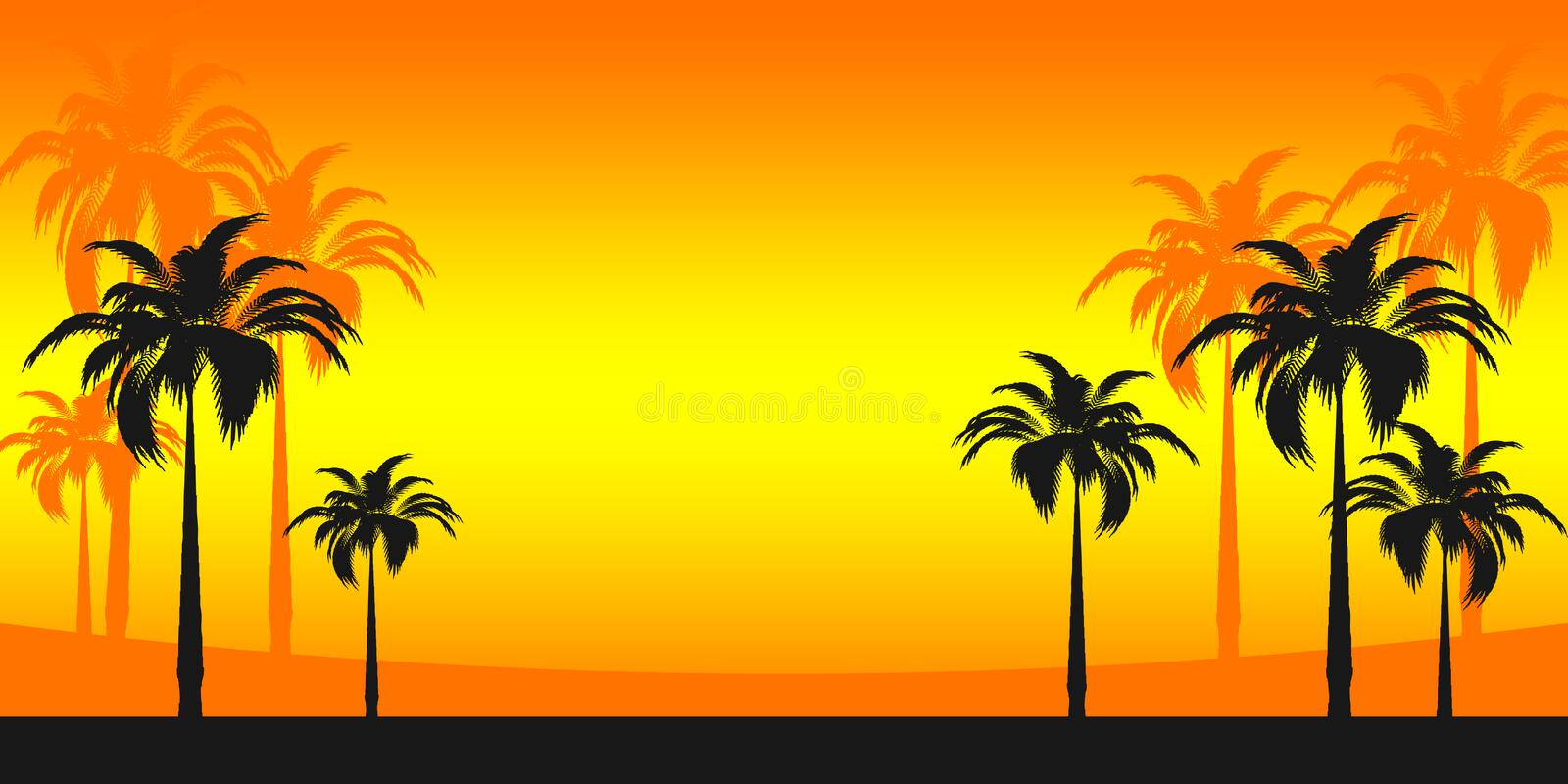 Tropical vacation stock illustration