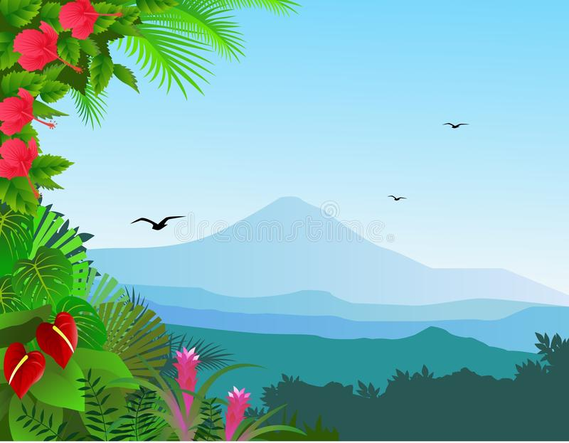 Download Tropical view background stock vector. Image of forest - 20403431