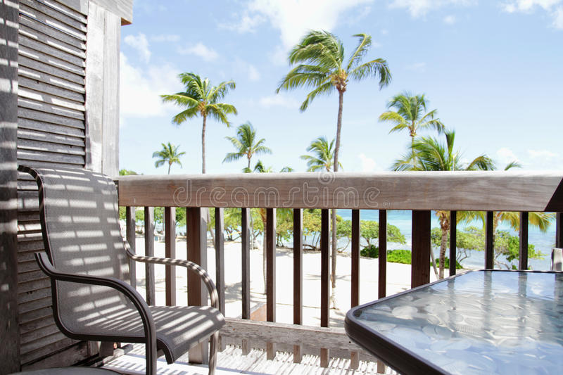 Tropical View From Deck, Lanai Royalty Free Stock Photography