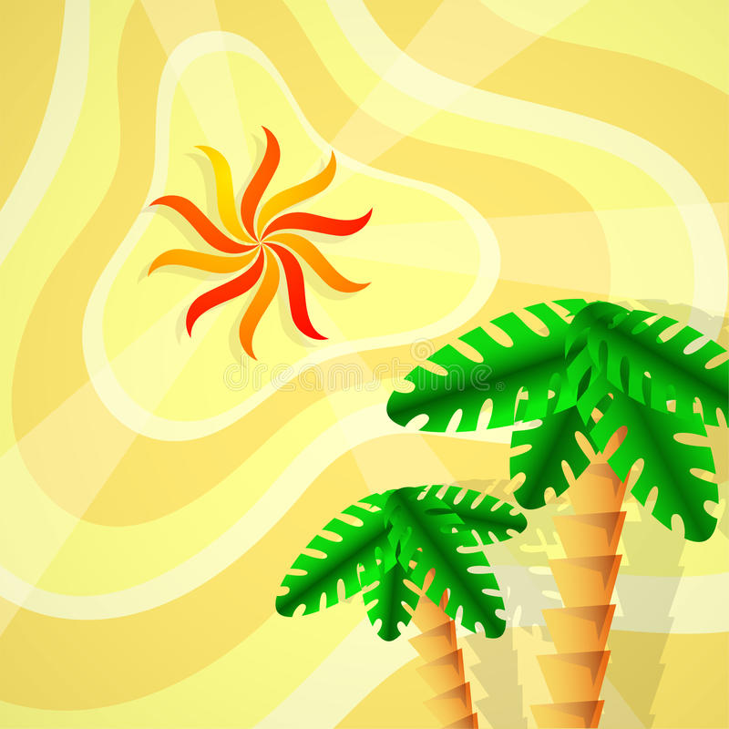 Download Tropical view stock vector. Image of travel, sunrise - 32434880