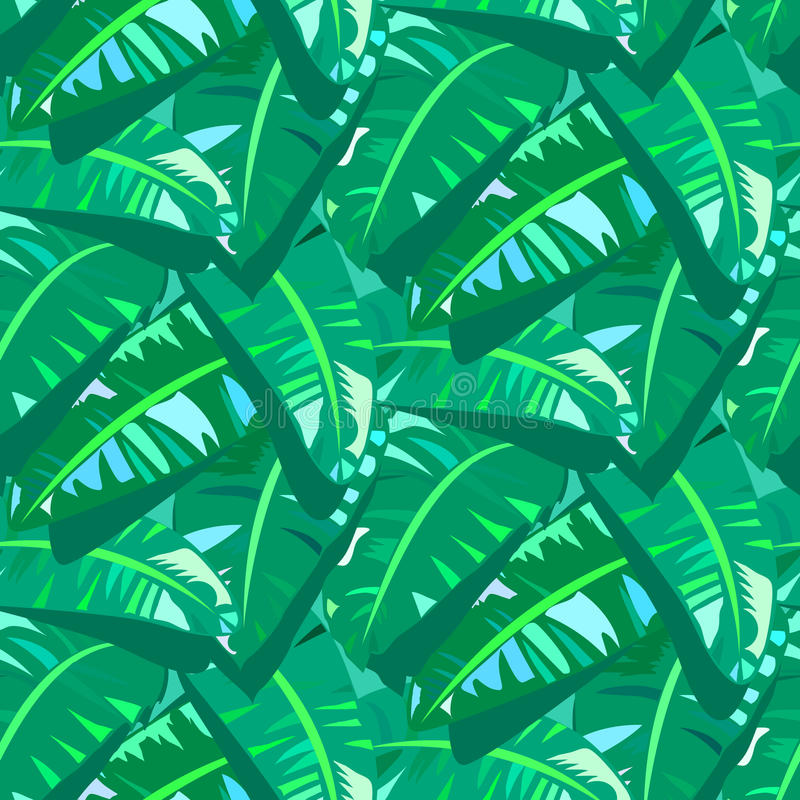 Free Tropical Vintage Pattern With Big Banana Leafs Stock Photos - 40753893