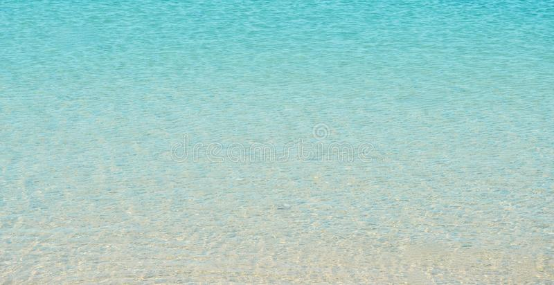 Tropical water. Gradient tropical blue water at the beach royalty free stock photos