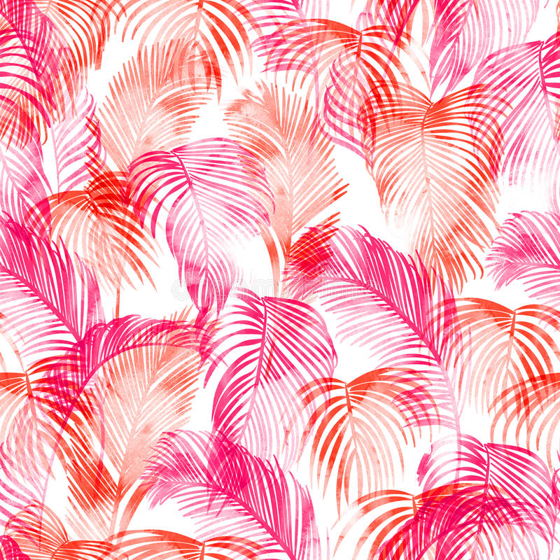 Tropical watercolor pattern vector illustration