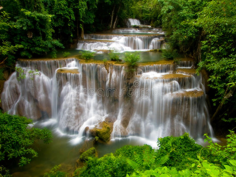 Download Tropical Waterfall stock photo. Image of camping, green - 14659016