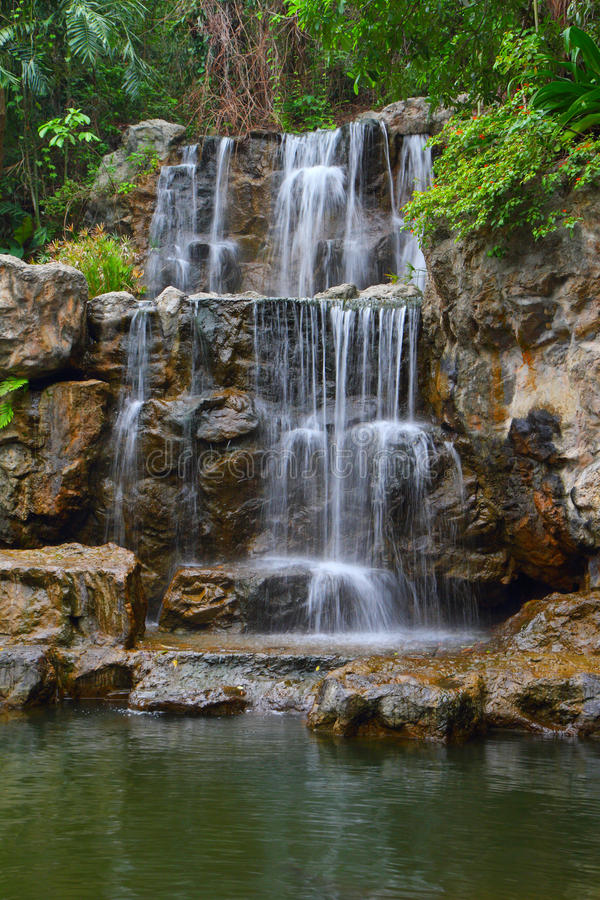 Tropical waterfall in forest. Tropical waterfall in Thailand forest royalty free stock photography