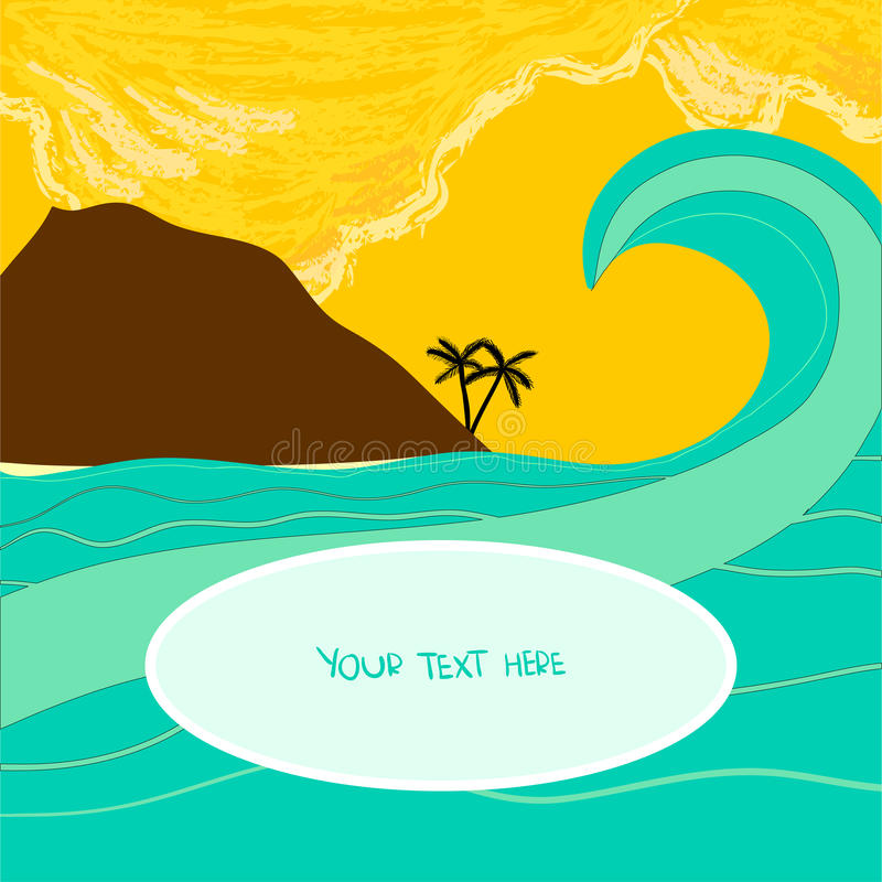 Download Tropical wave stock vector. Illustration of beach, bright - 28844318