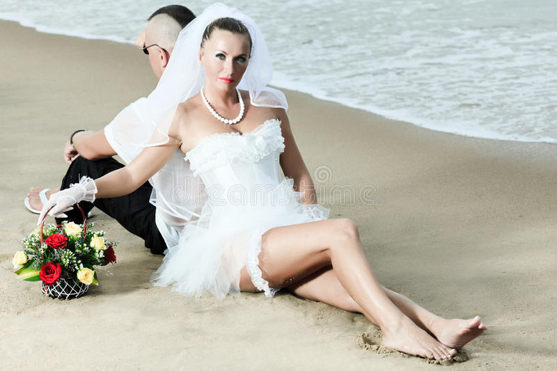 Tropical wedding stock photo