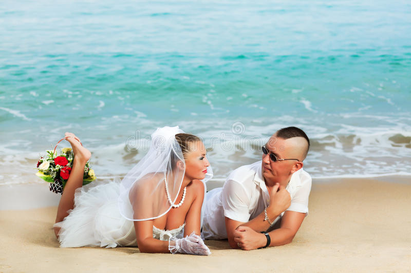 Download Tropical wedding stock photo. Image of groom, beach, relationship - 16362064