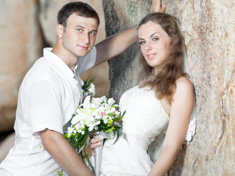 Download Tropical wedding stock image. Image of bride, newlyweds - 21150243