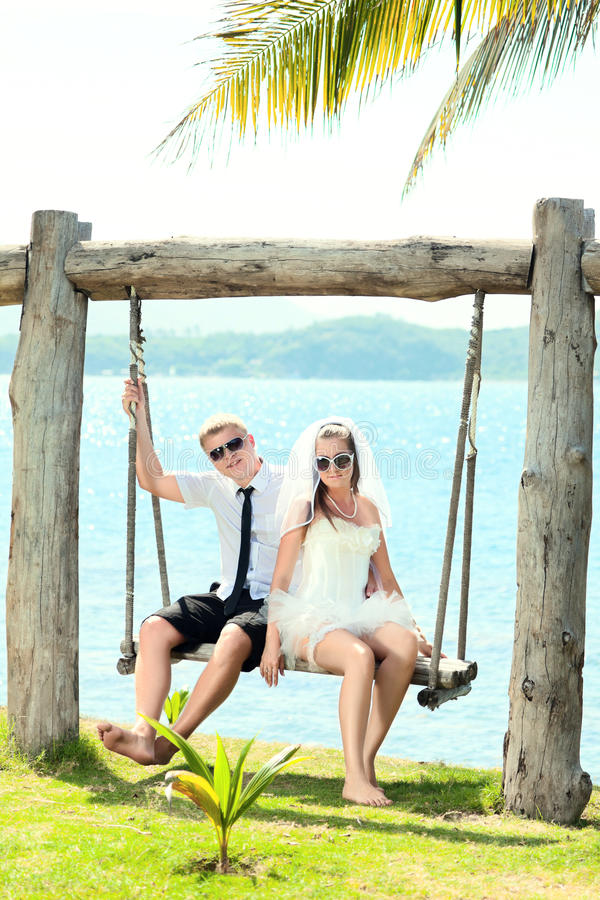 Download Tropical wedding stock photo. Image of happiness, playing - 21219888