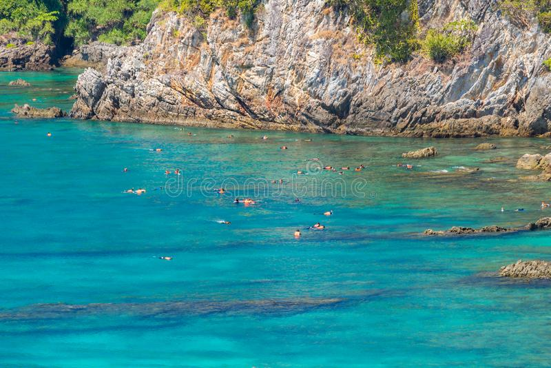 Tropical white sand beach Aerial royalty free stock images