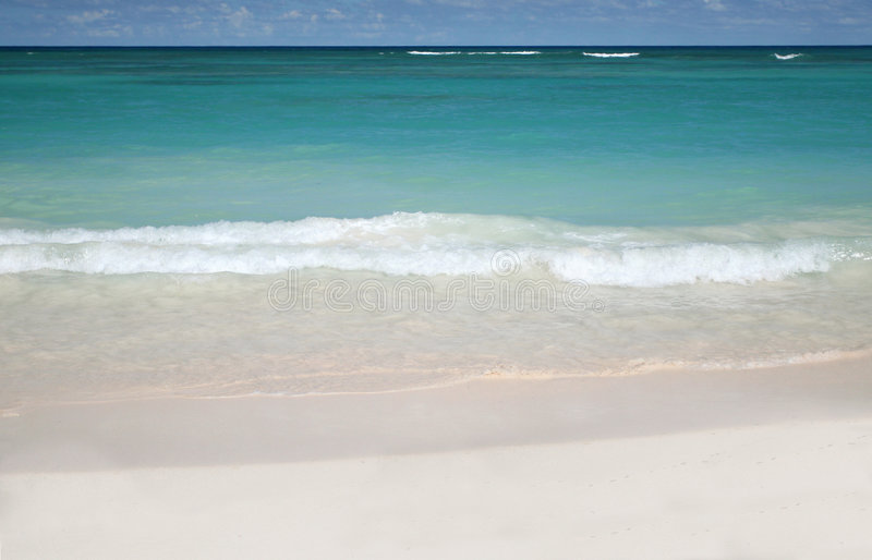 Download Tropical - White Sand Beach And Ocean Stock Image - Image: 7698657